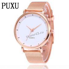 Часы PUXU Relogio Femenino, кварцевые, с ремешком/браслетом Цены