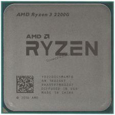 Процессор AMD Ryzen 3 2200G RX VEGA8 SocketAM4, 4яд, 4потока, 3,5-3.7GHz, 65W L1-96Kb L2-2MB L3-4MB Купить