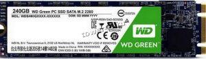 Твердотельный накопитель 240Gb SSD m.2 WD Green 2280 SATA3  6Gb/s чтение 545Mb  TLC 3D NAND Retail Купить