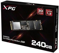 Твердотельный накопитель 240Gb SSD m.2  A-DATA XPG GAMMIX S11 PCI-E 3.0x4, NVMe 1700/3200Мб/с 160TWB Цена