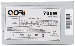 Блок питания SuperPower 700W ATX (P4 Ready) вентилятор 12см, +12В -44А (530Вт) оем Цена