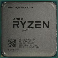 Процессор AMD Ryzen 3 1200 Socket AM4, 4яд, 4потока, 3,1-3.4GHz, 65W 96КB L2-2MB+L3-8MB oem Купить