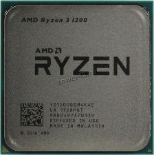 Процессор AMD Ryzen 3 1200 Socket AM4, 4яд, 4потока, 3,1-3.4GHz, 65W 96КB L2-2MB+L3-8MB oem Купить