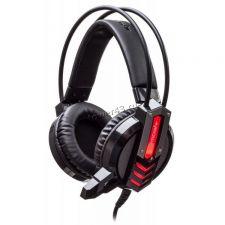 Наушники+микрофон Oklick HS-L450G ARROW  (черный/красный) игровые с регулятором громкости, подсветка Купить