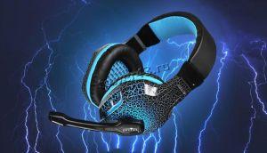 Наушники+микрофон Oklick HS-L400G ZEUS (черный/красный) игровые с регулятором громкости, подсветка Купить