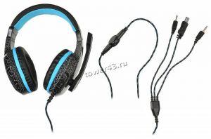 Наушники+микрофон Oklick HS-L400G ZEUS (черный/красный) игровые с регулятором громкости, подсветка Цена