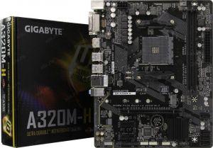 Мат.плата Soc-AM4 Gigabyte GA-A320M-H, 2*DDR4-2667, M.2, DVI-D HDMI, RAID, USB3.0 GLAN mATX RTL Купить