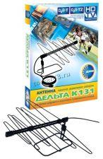 Антенна комнатная активная ДЕЛЬТА Digital (К131А.02/03) 12V DVB-T2, с б/п, усилитель, коробка Купить