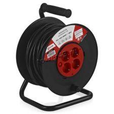 Удлинитель на катушке PG4-1030-SMART 10А/2,2 кВт, 30м, 4 розетки с заземлением 3x1мм2, термовыключ. Купить