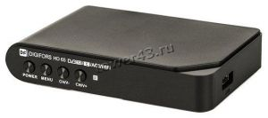 Цифровой ТВ-ресивер DVB-T2 DIGIFORS HD65 Wi-Fi (IPTV, YouTube, кнопки на перед. панели) Купить