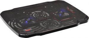 """Подставка под ноутбук охлаждающая Buro BU-LCP156-B208 с LED подсветкой 15,6"""", 2*Fan 8cm, USB Купить"""