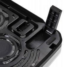 """Подставка под ноутбук охлаждающая Buro BU-LCP156-B208 с LED подсветкой 15,6"""", 2*Fan 8cm, USB Цена"""