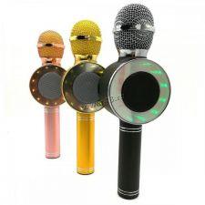 Мобильная колонка-микрофон WS-668/WS-1816 /USB/micro SD /караоке /подсветка /FM /меняет голос Купить