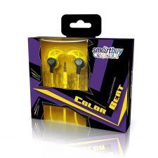 Наушники SmartBuy Color BEAT вкладыши канальные, металл, сменные насадки Купить