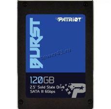 """Твердотельный накопитель 120Gb SSD 2.5"""" Patriot Burst, SATA3, 3D TLC, R560Mb/s, W540Mb/s RTL Купить"""