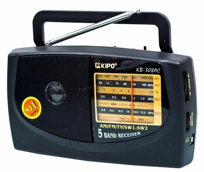 Радиоприемник KIPO KB-308AC /KB-408AC /LB-409AC FM /AM /SW1 /SW2 (цвет в ассортименте)