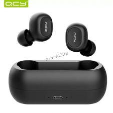 Наушники+микрофон вкладыши QCY TWS-QS1 mini, с зарядным боксом беспроводные (цвет в ассортимент) Купить