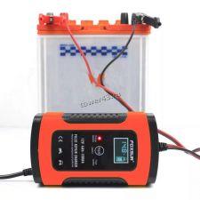 Автомобильное зарядное устройство FOXSUR для акб 4Ah-100Ah 220В -> 5A дисплей, автомат, датчик темп. Купить