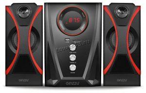 Колонки GINZZU GM-407, 40W=20W+2x10W /блютуз /USB/SD /FM-радио /пульт ДУ Купить