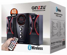 Колонки GINZZU GM-407, 40W=20W+2x10W /блютуз /USB/SD /FM-радио /пульт ДУ Цена