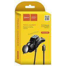 Автомобильное зарядное устройство miсroUSB DREAM DRM-SM01 2хUSB 2.4A (кабель 1.2M) черный Купить