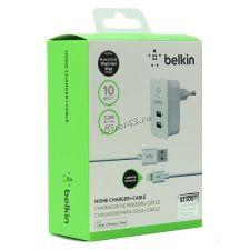 Сетевое з/у Ligtning Belkin /HOCO C73A/C22 /DREAM DRM-SM05 USB выхода, 2.4A (в ассортименте) Купить