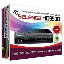 Цифровой ТВ-ресивер DVB-T2 Selenga HD950D, USB, HDMI, дисплей, кнопки, металл, встроенный бп Купить