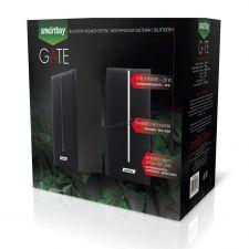 Колонки Smart Buy GATE SBA-4100 (20W) блютуз /FM-радио /MP3 /SD /USB дерево (чёрные) Цена