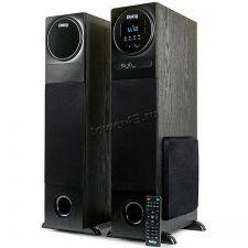 Колонки Dialog AP-2300 (Караоке) блютуз /FM-радио /MP3 /USB (80W) дерево (чёрный/коричнев), микрофон Купить