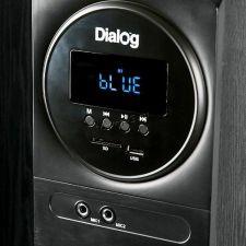 Колонки Dialog AP-2300 (Караоке) блютуз /FM-радио /MP3 /USB (80W) дерево (чёрный/коричнев), микрофон Цена