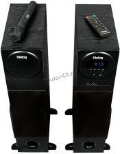 Колонки Dialog AP-2300 (Караоке) блютуз /FM-радио /MP3 /USB (80W) дерево (чёрный/коричнев), микрофон Вятские Поляны