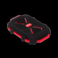 Внешний мобильный аккумулятор Ritmix RPB-10407LT +фонарик 10400mAh  силикон (черно-красный) Купить