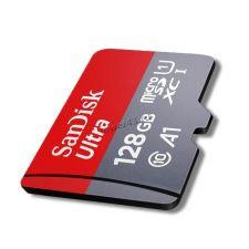 Память microSDXC 128Gb class10 Sandisk Ultra, UHS-I U1 80Mb/s c адаптером Retail Купить