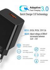 Сетевое зарядное устройство 220В -> USB 3A-5V Rock/Eltronic 9v/12v (2А, 1.5А), 19Вт, QC3.0 Купить