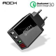 Сетевое зарядное устройство 220В -> 3xUSB 3.1A-5V дисплей: QC3 9V-2.1А, 12V-1.5A, 2,3: 5V-2.4A, 45W Купить