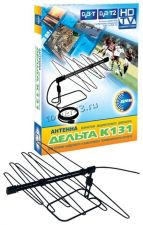 Антенна комнатная пассивная ДЕЛЬТА К131 DVB-T2, кабель 3м, коробка Купить