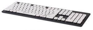 Клавиатура Oklick 580M USB черная с белыми клавишами островного типа Купить