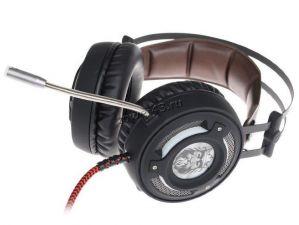 Наушники+Микрофон QUMO Avalon GHS 0006, игровые, подсветка, интерфейс USB + 3,5 jack, динамики 50мм Купить