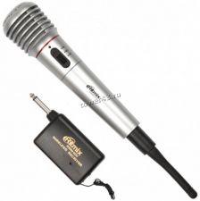 Микрофон RITMIX RWM-100 радиомикрофон +проводной режим, корпус пластик Купить