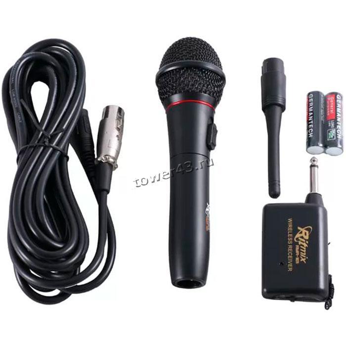 Микрофон RITMIX RWM-101 радиомикрофон +проводной режим, корпус металл