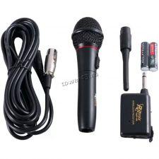 Микрофон RITMIX RWM-101 радиомикрофон +проводной режим, корпус металл Купить