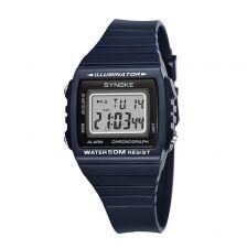 Часы мужские SYNOKE электронные, водозащита 5BAR(50м), подсветка, будильник, ремень, черные Купить