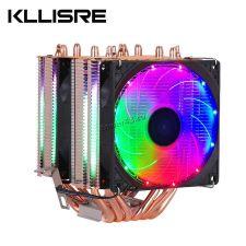 Вентилятор Kllisre (all Socket), до 200Вт, 6тепл.трубок, 3 вент.с подсветкой, 800-2200об, 2хPWM Купить