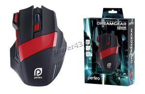 Мышь PERFEO PF-1711-GM DREAMGEAR подсветка 4800dpi (черно-красная) Купить