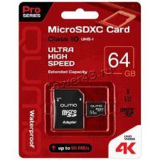 Память microSDXC 64Gb class10 Netac, UHS-I U3 4К 90Mb/s без адаптера Retail Купить
