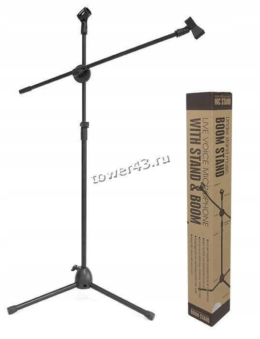 Штатив для микрофона с держателем кабеля
