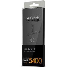 Внешний мобильный аккумулятор Ginzzu GB-3905B LiPol 5400mAh/5V/2A, ультра-слим, черный Купить