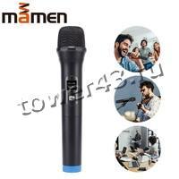 Микрофон MAMEN HE-V05 динамический для караоке беспроводной, LCD дисплей, металл