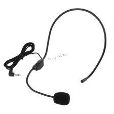 """Микрофон ALLOYSEED черный, проводной, петличный с оголовьем, шнур 1м, L-миниджек 3.5"""" Купить"""