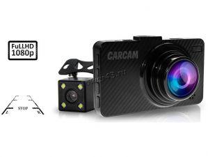 Автомобильный видеорегистратор КАРКАМ D5 (Full HD +парков камера 1280х720, 140гр, G-сенсор) карбон Купить